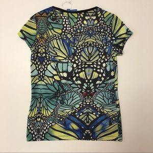 adidas Tops - Adidas Originals Butterfly Allover Print Trefoil t